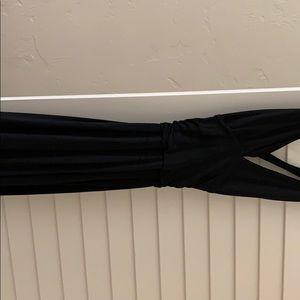 DVF black dress